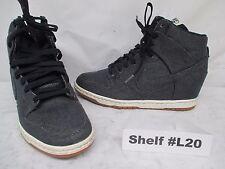 Nike 644877-400 Dunk Hi Obsidian Denim Blue Inside Wedge Boots Shoes Size 8.5