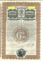 1904 Republica Mexicana Bond Extremely Rare
