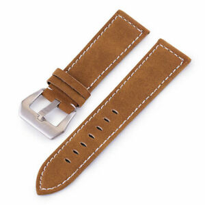 Men Women Nubuck Leather Watch Strap Band Wristwatch Belt Replacement 18mm-24mm