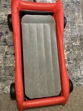 New listing Kids Inflatable Air Mattress Race Car Shaped Toddler Bed