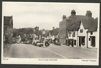 Postcard Midhurst Sussex three wheel motor car PPO 906 in Church Street RP