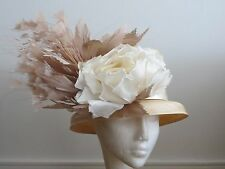 Races / Wedding Hat Philip Treacy Floral Straw Hat Harrods in Harrods Box NEW