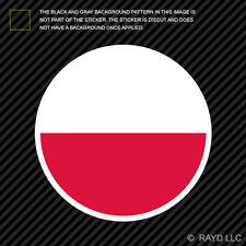 Round Polish Flag Sticker Die Cut Decal Self Adhesive Vinyl Poland circle