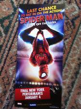 Spider-Man Turn Off the Dark   musical ad/flyer Broadway NYC closing ad