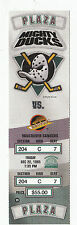 DUCKS VS CANUCKS 1995 FULL TICKET STUB MINT 12/22/95 MOGILNY HAT TRICK KARIYA 1G