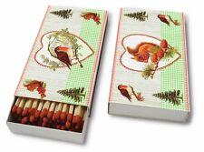 Streichholz Zündhölzer Birds & Friends, Herbst Winter Weihnachten P+D