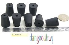3 Rubber Stoppers Laboratory Stoppers Size 1 With Single Hole Corks