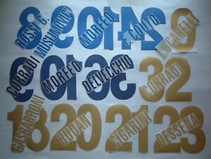 KIT NOME+NUMERO UFFICIALI PARMA HOME/AWAY/3RD 2006-2009 OFFICIAL NAMESET