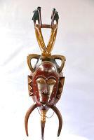 AC9 Guro / Baule Maske alt Afrika * Masque Gouro ancien * Old tribal mask Africa