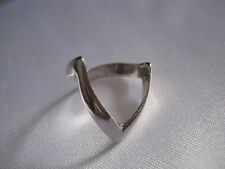 Solid Silver Double Wishbone Ring Size L Hallmarked Silver