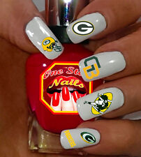 Green Bay Packers Nail Art Waterslide Nail Decals Set of PGB-001-62