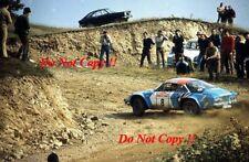 Jean-Pierre Nicolas Alpine-Renault A110 1800 San Remo Rally 1973 Photograph 1