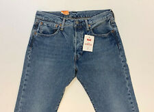 Levis 501 2465 hellblau Jeans Straight Leg Klassiker Hohe Leibhöhe Stretch Men