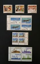 Canada Stamp Lot 3 Mnh Blocks & Christmas Set * Airplanes, Jets, Steamships
