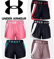 Under Armour Womens Shorts Play Up Stripe 3 Run Work Out Yoga FREE SHIP 1351978