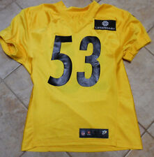 PITTSBURGH STEELERS GAME USED TRAINING CAMP JERSEY 2013  WITH HOLOGRAM #53