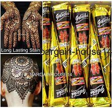 FRESH!! BOX of 2 Cones GOLECHA BLACK Henna Mehendi Cones Bridal /Party/Wholesale
