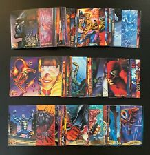 1995 Marvel Masterpieces Base Card Set of 151 Marvel Comic Cards NM+