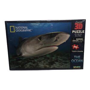 National Georaphic The Ocean Tiger Shark Super 3D Puzzle 500 Pieces 24 x 18
