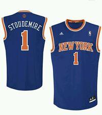 Amar' e Stoudemire New York Knicks ADIDAS L Replica Jersey-BLU 100% AUTENTICO
