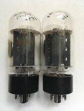Matched Pair RCA Black Plate Tall Bottle 6L6GC Tubes