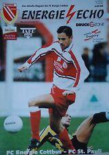 Programm 1999/00 FC Energie Cottbus - FC St. Pauli