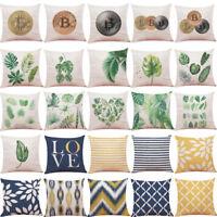 Home Decor Cushion Cover Leaf Tropical Plants Throw Pillowcase Pillow Covers