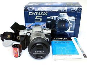 ✮ Minolta Dynax 5 Spiegelreflexkamera mit 28-80mm Objektiv OVP // Händler!