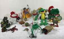 Vintage frog figurines, Plush Lot Of 14