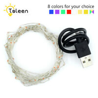 5m/10m USB Powered Fairy Lamp Silver Wire Waterproof LED String Starry Light 90