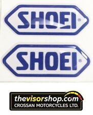 2 x Gel Type Non Fade Pair SHOEI Blue Motorcycle Helmet Visor sticker