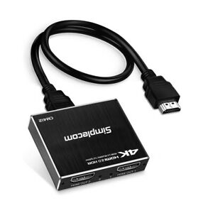 HDMI 2.0 1x2 Splitter 1 In 2 Out 4K @60Hz 3D HDR HDCP2.2 UHD Foxtel Duplicator