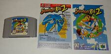 Snowboard Kids 2 (64 Nintendo N64) Cartridge + Manual + Ref Card Only - Tested