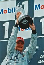 David Coulthard Mano Firmata West McLaren Mercedes F1 12x8 FOTO 3.