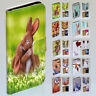 For HTC Series - Easter Bunny Theme Print Flip Case Wallet Mobile Phone Cover
