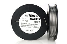 TEMCo Kanthal A1 wire 16 Gauge 50 Ft Resistance AWG A-1 ga