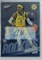 AARON HOLIDAY 2018-19 PANINI NATIONAL AUTO AUTOGRAPH RC PACERS #/25