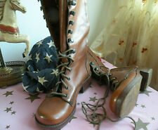 """Lace-Up Prairie Boots 7.5 Vintage 1970's Wild Pair 