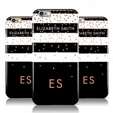 PERSONALISED BLACK/STRIPED NAME INITIALS PHONE CASE COVER FOR APPLE IPHONE