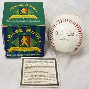 Babe Ruth 100th Anniversary Replica Signature Baseball in Box Sealed VINTAGE