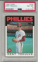 1986 TOPPS #326 KENT TEKULVE, PSA 8 NM-MT, PHILADELPHIA PHILLIES, L@@K !