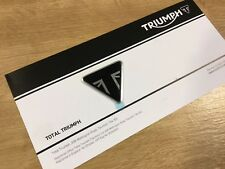 Triumph Triangle Engine Cover Sissy Bar Badge Logo Sticker Black NEW Union Jack