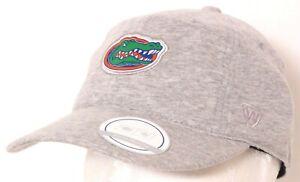 NEW Florida Gators TOW Gray Cotton Ponytail Criss Cross Hat Cap Women's OS