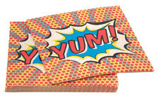 20 NAPKINS POP ART YUM Superhero Boys Birthday Party Deluxe Kids Tableware