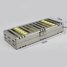 Dental Sterilization Cassette Rack Tray Box for 5 Dental Surgical Instruments