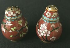 Vintage * Cloisonne * Salt / Pepper Shakers * Nice