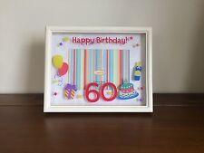 """Happy 60th Birthday Photo Frame/Gift Celebration 4""""x 6"""""""