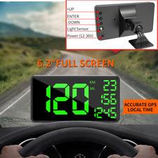 "6.2"" Universal Car Truck Head Up Display HUD KM/h Speeding Warning w/Bracket"
