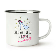 All You Need Is Love Chaussures Neuves Rétro Émail Tasse