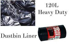 X 50 120L Negro Resistente Bolsas de basura Jardín Y domésticos Residuo